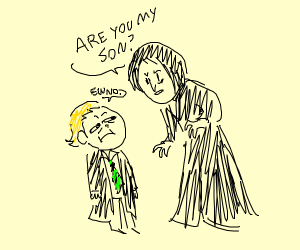 Snape asking if Draco is his son