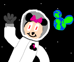 Minnie Mouse Astronaut
