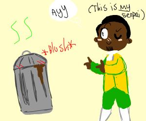 senpai flirting to garbage