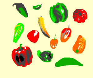 Various type of pepper