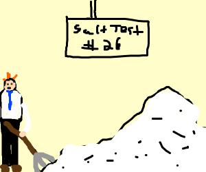 Scientist pushing Salt