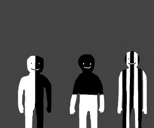 three black and white boyos