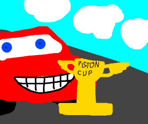 mcqueen with piston cup