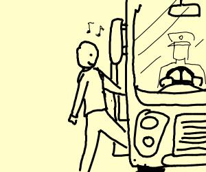 Riding Bus