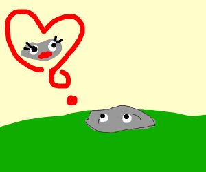 a rock in love