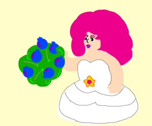 Rose eats a blueberry bush