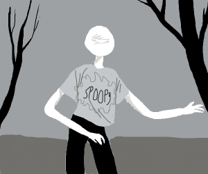 Slenderman in spoopy shirt