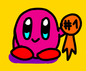 Kirby is too pure and is #1