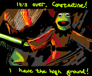 Obi Wan Kermit-obi has the high ground