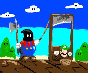 Mario playing hangman
