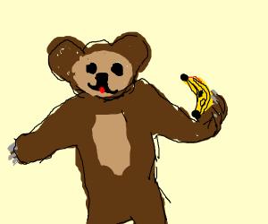Bear is gonna eat banana
