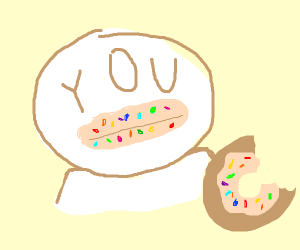 Donut's sparkles all over your lips