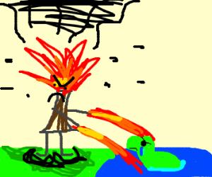 Volcano man kills nessie