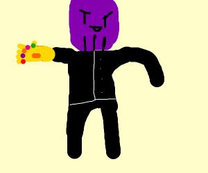 Thanos in a tux