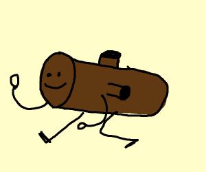 brown log creature