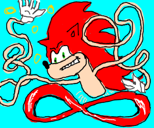 long armed red sonic