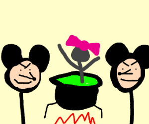 mickey and his clone cook a woman alive
