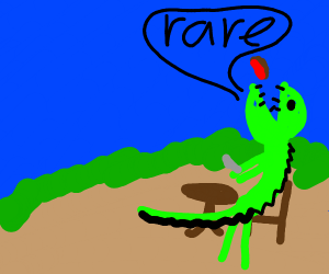 Crocodile saying RARE