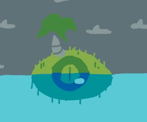 eye-shaped island