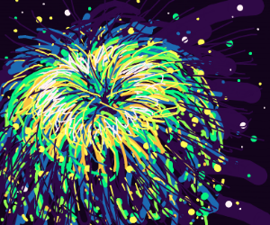 Close up firework explode
