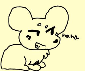 Smug laughing anime mouse