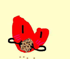 heart holding a cookie