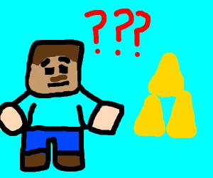 steve from minecraft confused by triforce