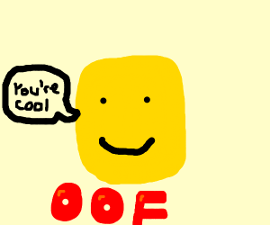 Roblocks head says you're cool