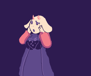 toriel looking worried