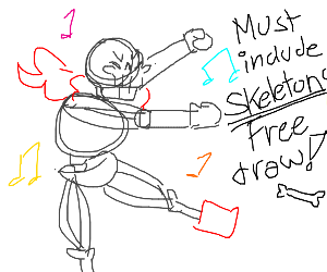 Free Draw but it must include skeletons