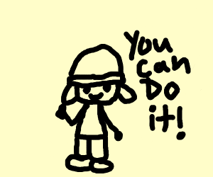 "Parappa says ""You gotta believe!"""