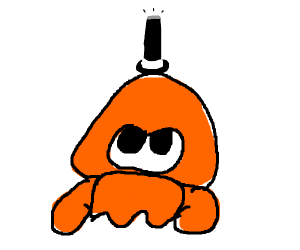 Squid wearing a top hat