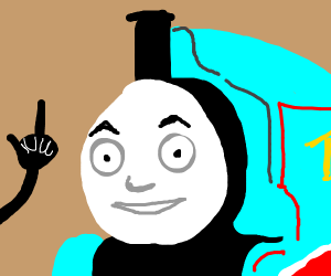 Man flips off a train