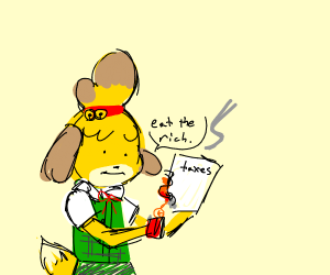isabelle (acnl) commits tax evasion