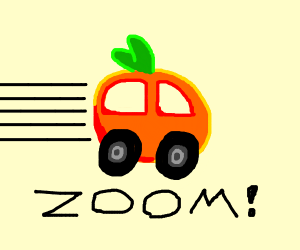 super fast orange car