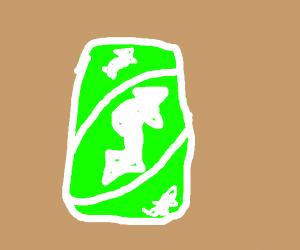 Green uno reverse card