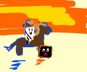 cowboy marshmallow wants a cube