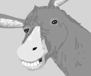 Creepy Donkey With Evil Grin