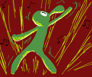 Abstract squidward dancing