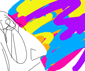 John Lennon in a colored daze