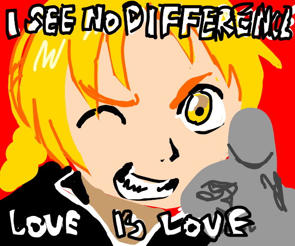 Anime boi sees no difference, love is love