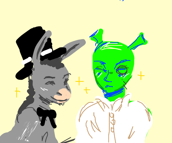 Classy Shrek and Donkey