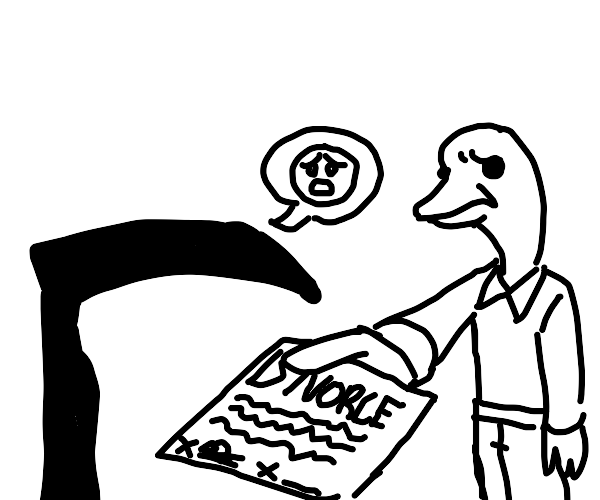 Duck and sickle file for divorce