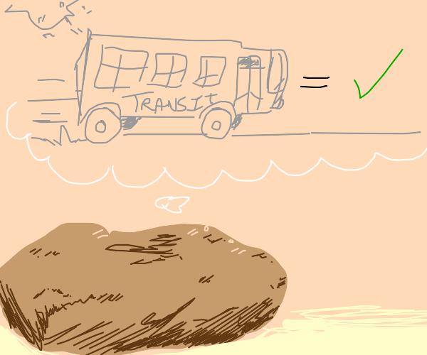 Potato considers public transit
