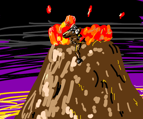 Pony in a Volcano