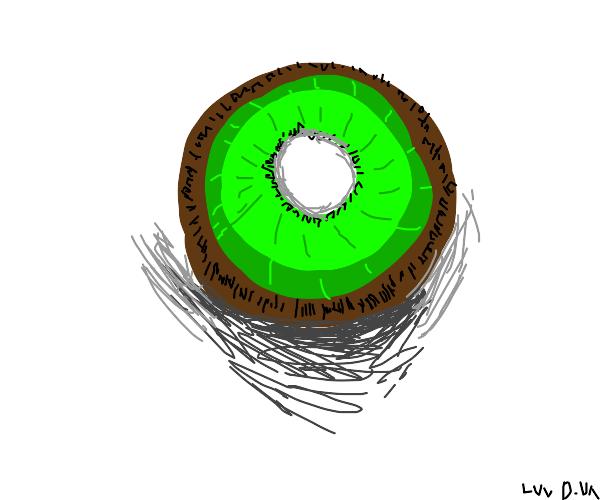 a kiwi fruit