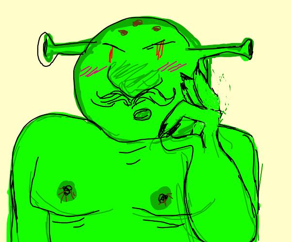 shrek speaking cursive