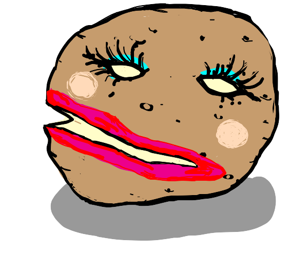Potato with makeup