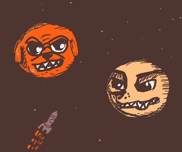 Angry dogs in space.