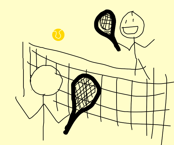 two guys playing tennis